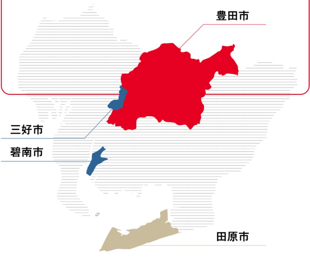 トヨタ期間工の工場マップ