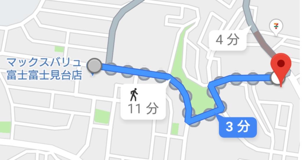 ジヤトコ富士見台寮付近のマップ
